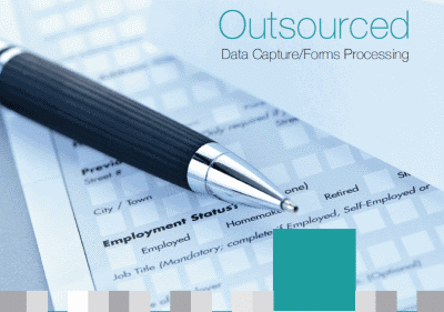 Cover of Dajon Data Management Outsourced Data Capture/Forms Processing brochure