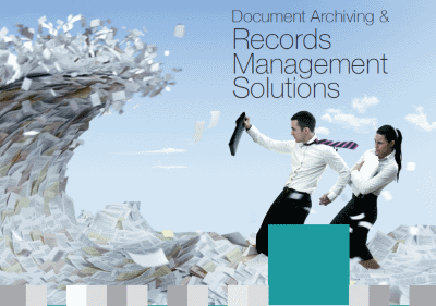 Cover of Dajon Data Management Document Archiving & Records Management Solutions brochure