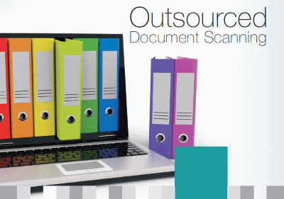 Cover of Dajon Data Management Outsourced Document Scanning brochure