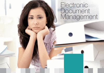 Cover of Dajon Data Management Electronic Document Management brochure