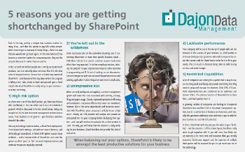 5 reasons you are getting shortchanged by SharePoint