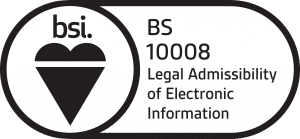 Dajon is compliant to the BS 10008 standard for Legal Admissibility of Electronic Information