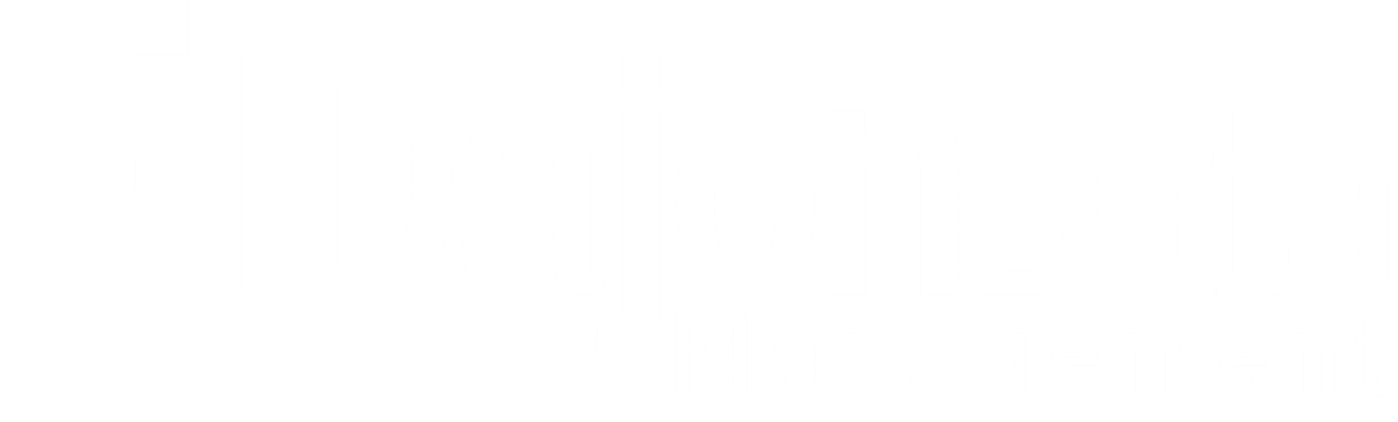 White Dajon Data Management Logo
