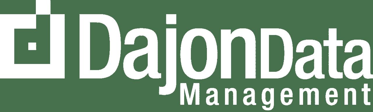 White Dajon Data Management Logo