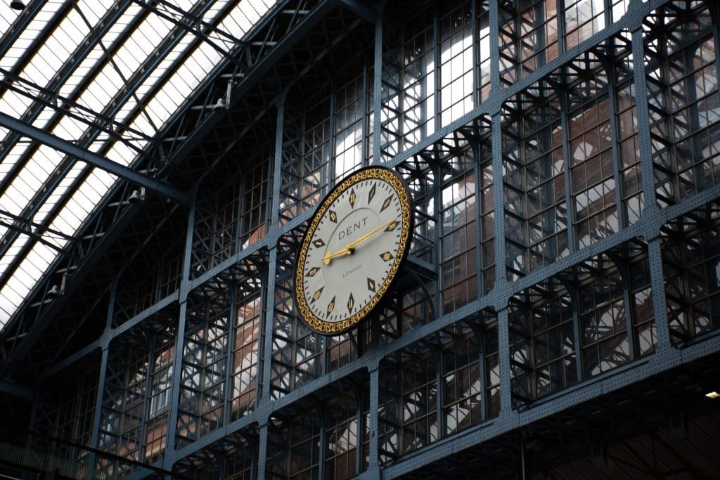 Clockface at St Pancras International Station